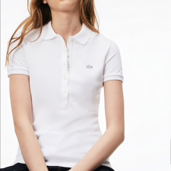 560b991e Lacoste Tops   Womens Slim Fit Stretch Mini Cotton Piqu Polo Ec ...